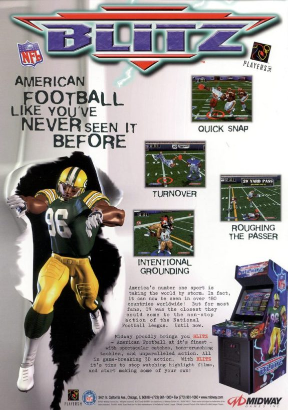 NFL Blitz Flyer