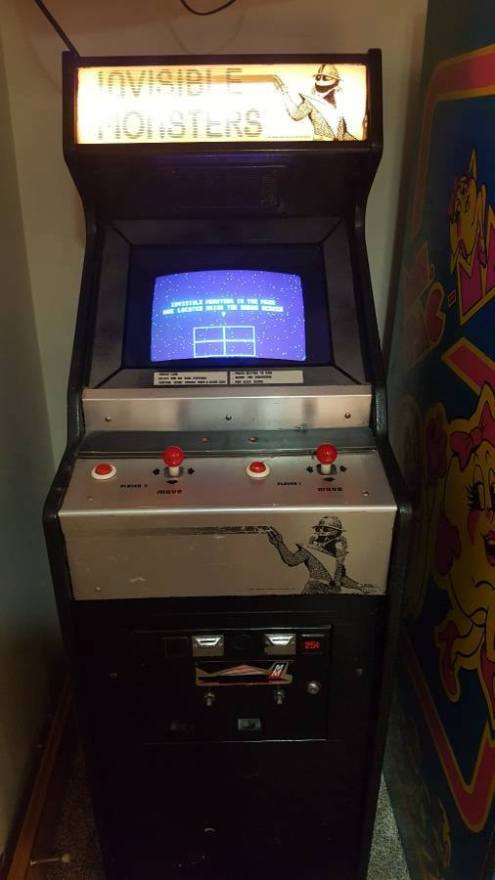 Invisible Monsters arcade cabinet