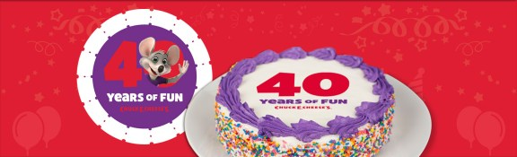 Chuck E Cheeses 40th birthday
