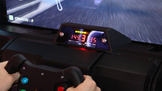 Sega World Driving Championship 2018 dashboard