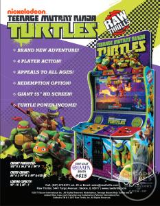 Teenage Mutant Ninja Turtles 2017 by Raw Thrills