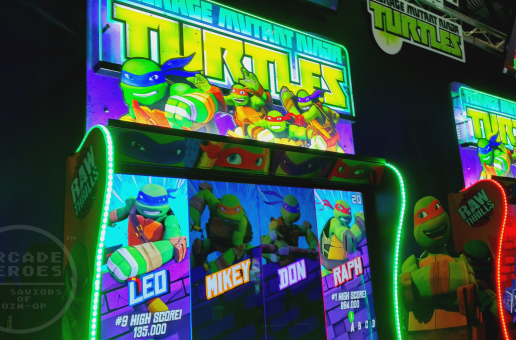 IAAPA 2017: Raw Thrills booth with Teenage Mutant Ninja Turtles; Injustice Arcade; X Games Snow Boarder