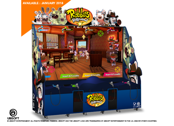 Rabbids Hollywood arcade game by Adrenaline Amusements