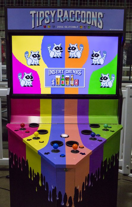 Tipsy Raccoons indie arcade game by Glitchbit