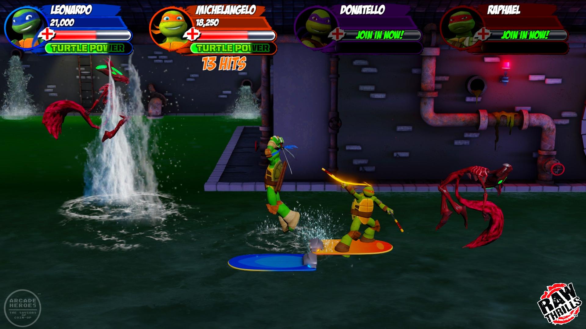 Arcade Heroes Sewer Level & Shredder's Throne Room Revealed