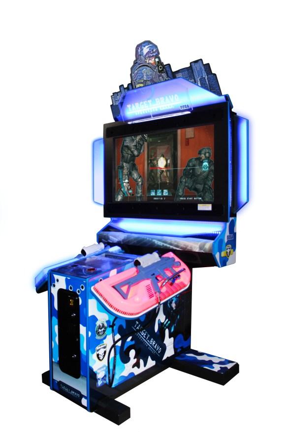 "Target Bravo: Operation GHOST 43"" upright model by Sega Amusements"