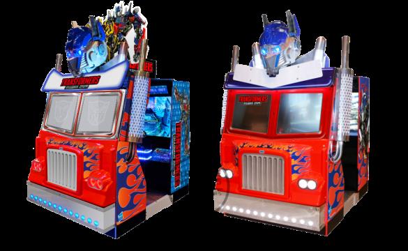 Transformers Shadows Rising Arcade cabinet models by Sega Amusements