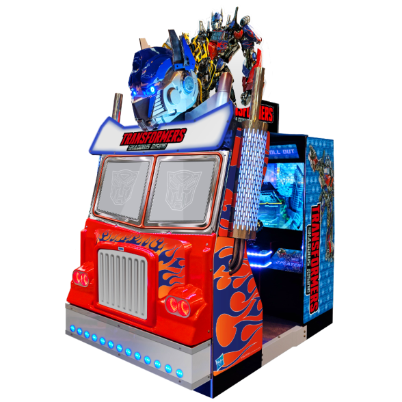 Transformers Shadows Rising production cabinet by Sega Amusements