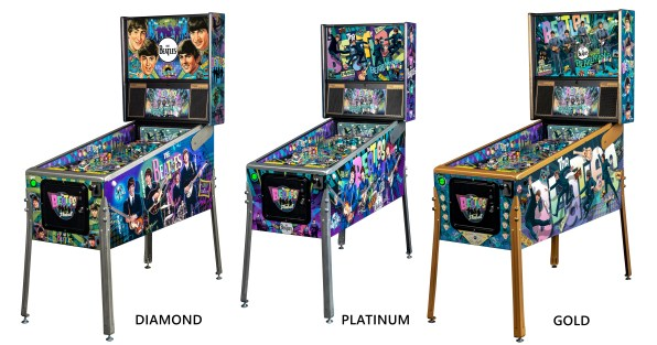 The Beatles Pinball cabinet comparison