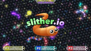 Slither.io Arcade Title Screen