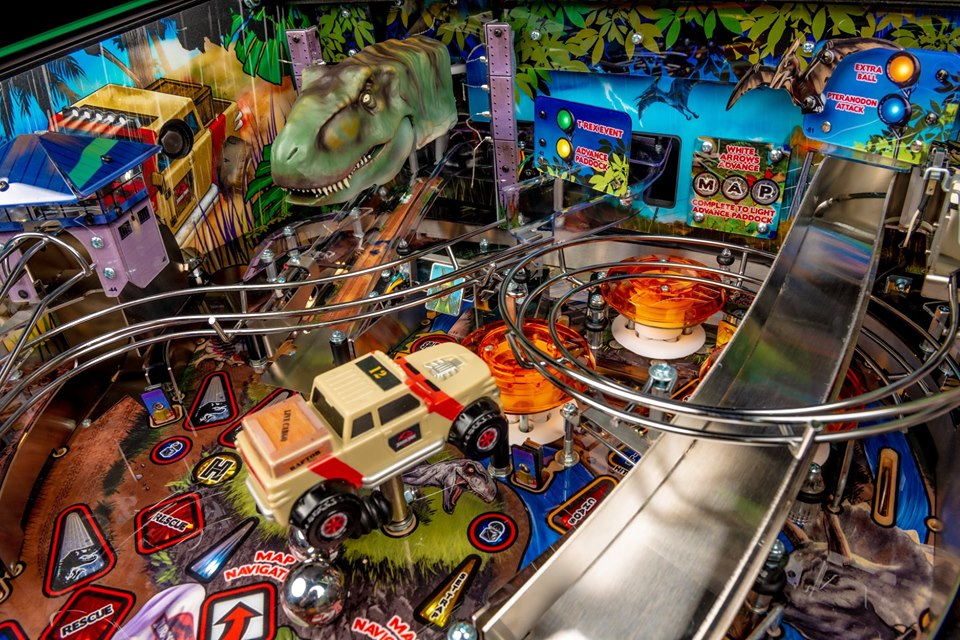Image result for jurassic park pinball stern