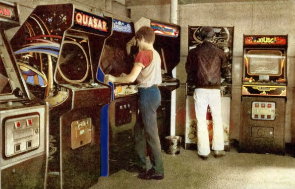 Old arcade photo with color restored by Arcade Heroes