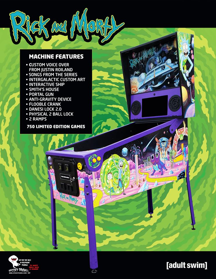 Image result for rick and morty pinball