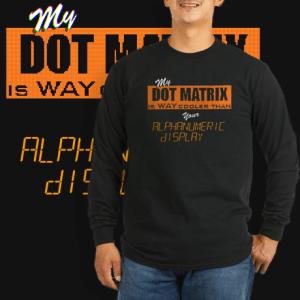 Dot Matrix vs Alphanumeric display.