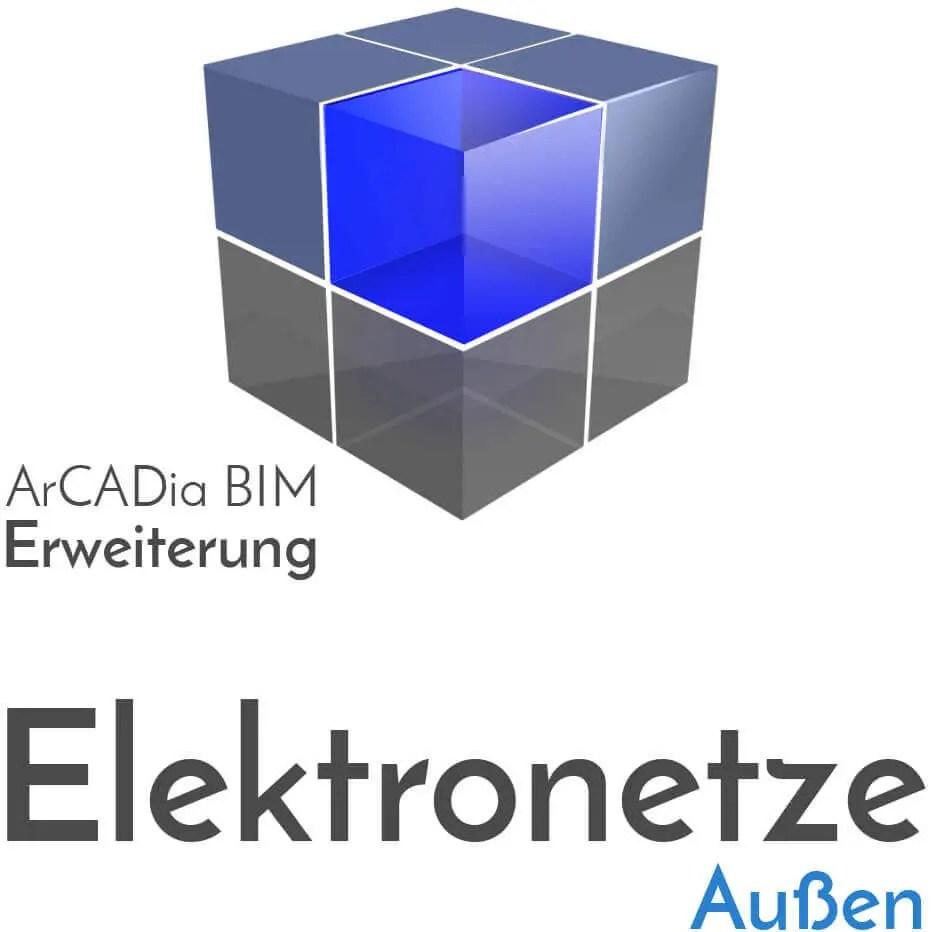 ArCADia BIM - Erweiterung Elektronetze Außen