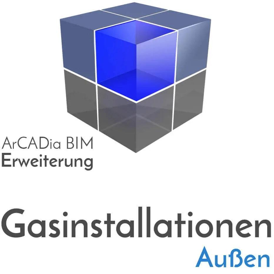 ArCADia BIM Erweiterungen Gasinstallation Außen - Gasversorgung - Gasdruchfluss Bestimmung