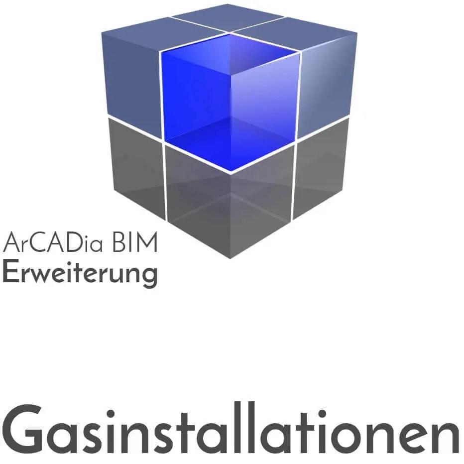 ArCADia BIM Erweiterungen Gasinstallation - Berechnung von Gasdurchfluss, Gasverbrauch, Gasbedarf, Druckabfälle, Leitungsquerschnitte