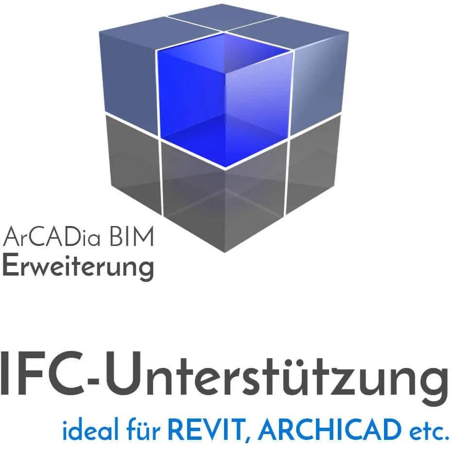ArCADia BIM Erweiterungen Shop - IFC-Datenimport und IFC-Export aus Programmen wie REVIT oder ARCHICAD