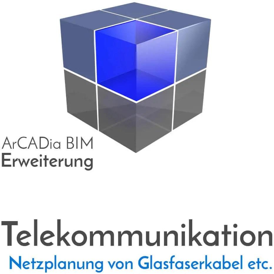 ArCADia BIM Erweiterungen Shop Planung von Freileitungsnetze - Glasfaserkabel - Kupferkabel - Erdkabel - Kabelrohre
