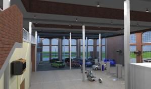 ArCADia BIM LT Architektur Erweiterung - 2D 3D CAD Original Rendering - Autohaus Schauraum
