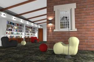 ArCADia BIM LT Architektur Erweiterung - 2D 3D CAD Original Rendering - Innenansicht Bibliotek