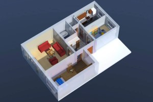 ArCADia BIM LT Architektur Erweiterung - 2D 3D CAD Original Rendering - Perspektive, 3D Grundriss Passivhaus
