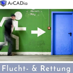 ArCADia BIM Facherweiterung für Fluchtpläne, Rettungswege und Brandschutzpläne