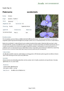 Sample page from a Plant Report