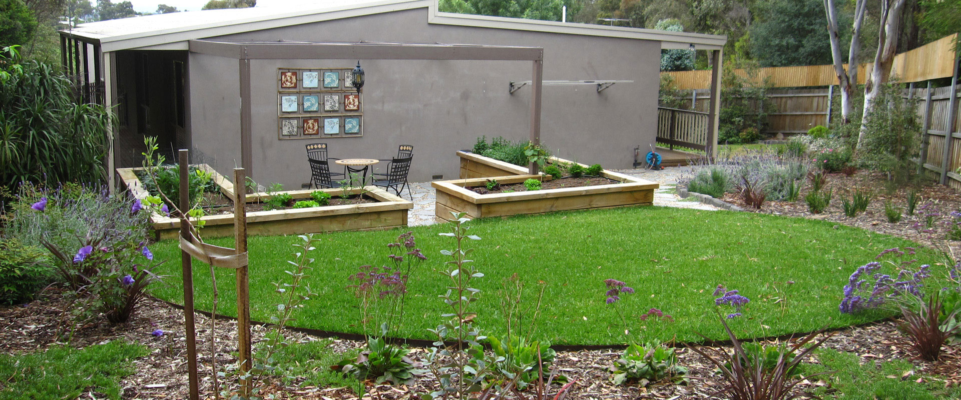 A neglected backyard is now a productive living space