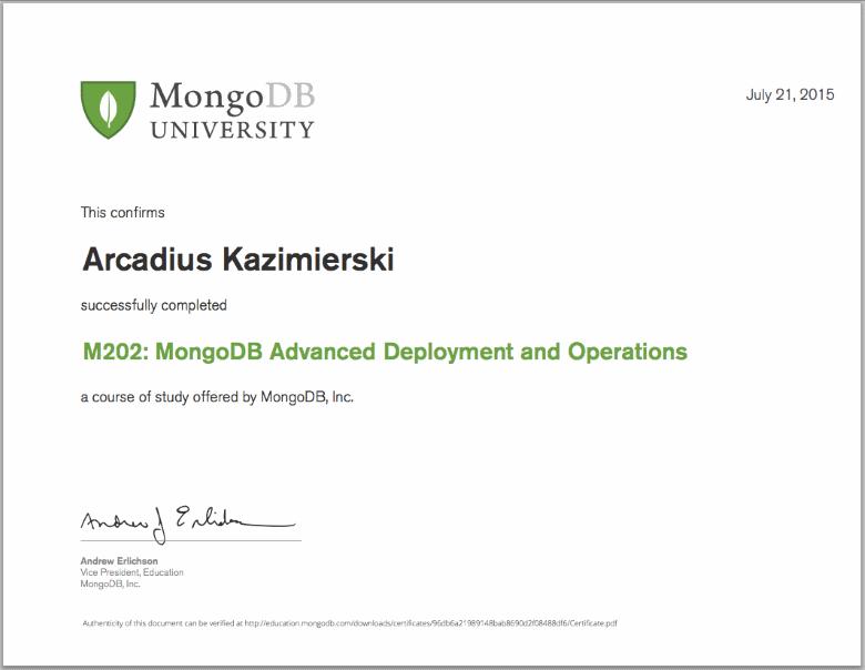Arcadius Kazimierski  Software Engineering