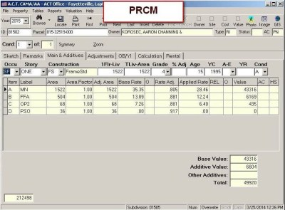 Cost Tab PRCM 2 View