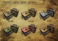 {A} Vintage Lunch Boxes Gacha Vendor