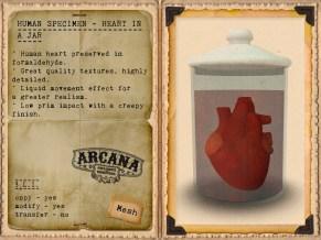 {A} Human Specimen - Heart in a Jar Vendor