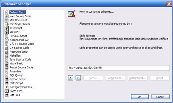 [Notepad2 Configuration screen.]