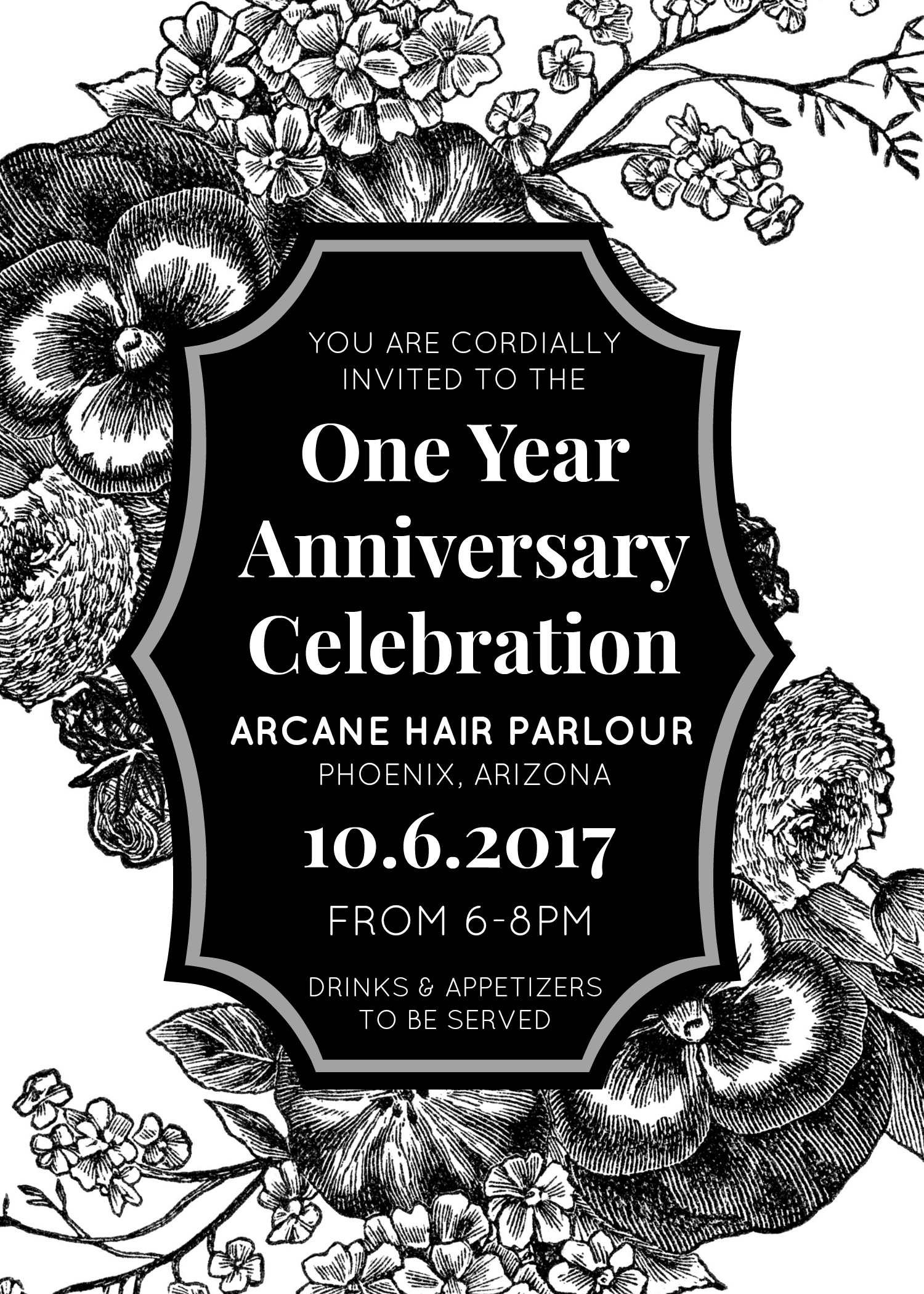one year anniversary arcane hair parlour downtown phoenix