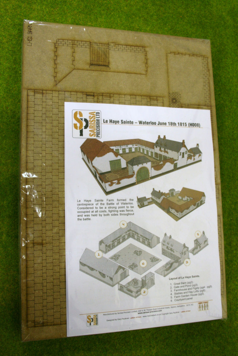 WATERLOO LA HAYE SAINTE FARM HOUSE 28mm Laser Cut MDF