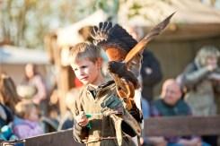 Junge mit Greifvogel