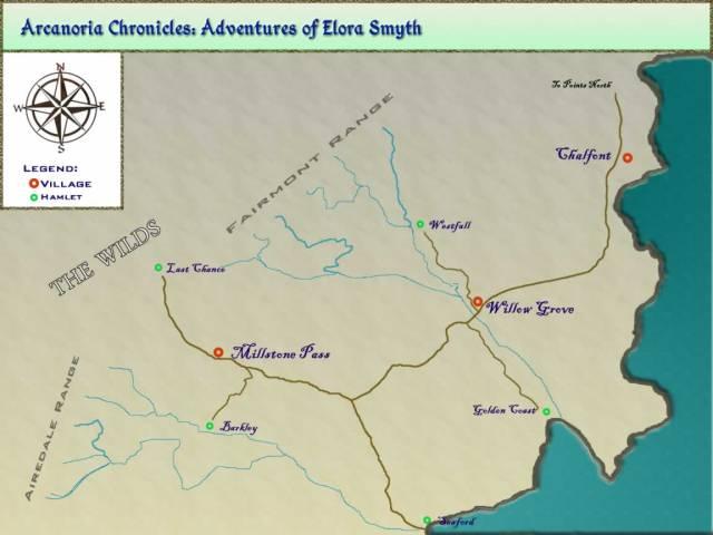 map - Fairmont Range