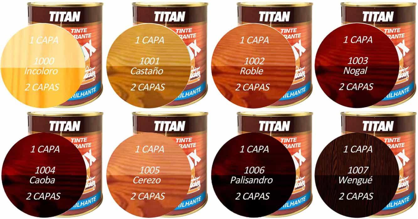 Barniz Tinte Titanlux Barniz Color Brillante para maderas