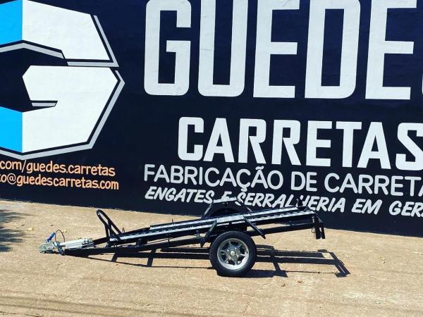 Carreta para transporte de 1 moto – para moto puxar