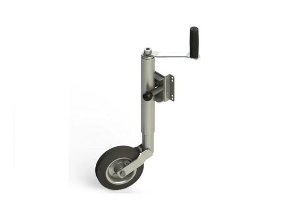 Pedestal Roda Louca C/sup. Escamoteável P/carretinha Reboque