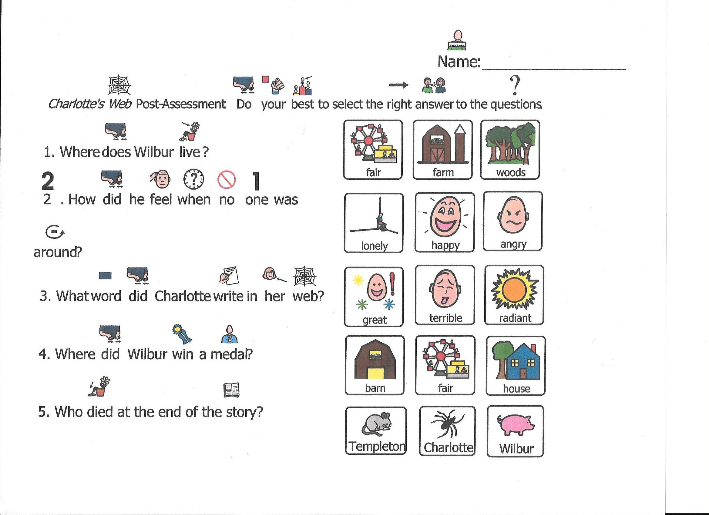 Charlotte S Web Vocabulary Worksheet