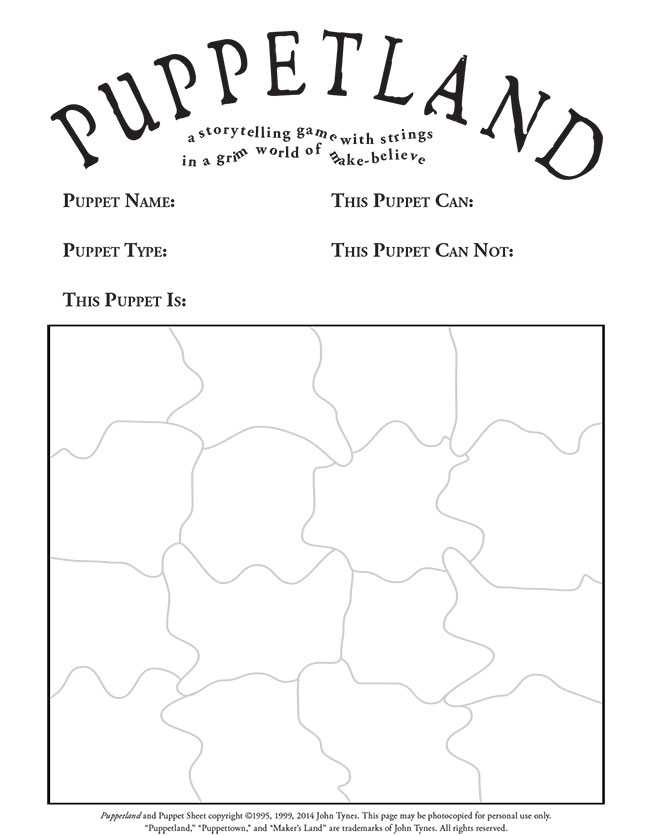 Download this puppet sheet and play Puppetland now