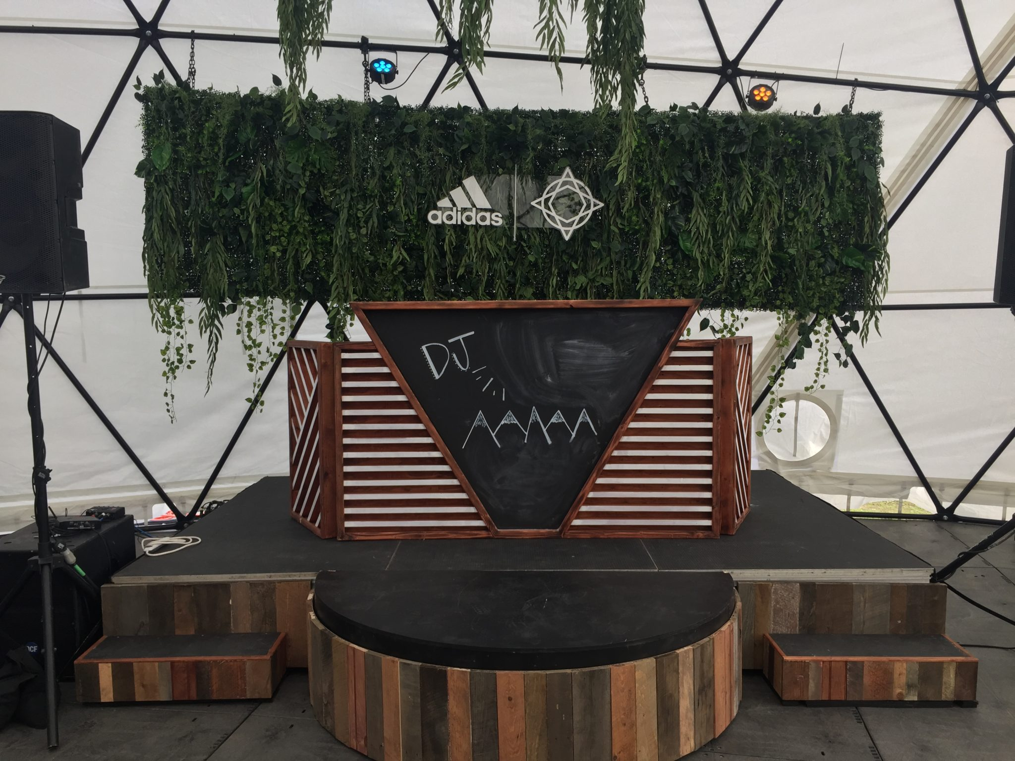 Reclaimed DJ Stage  ARCH Production and Design NYC