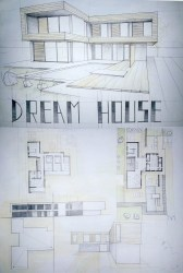 Modern House Drawing Perspective Floor Plans Design Architecture Student ARCH student com