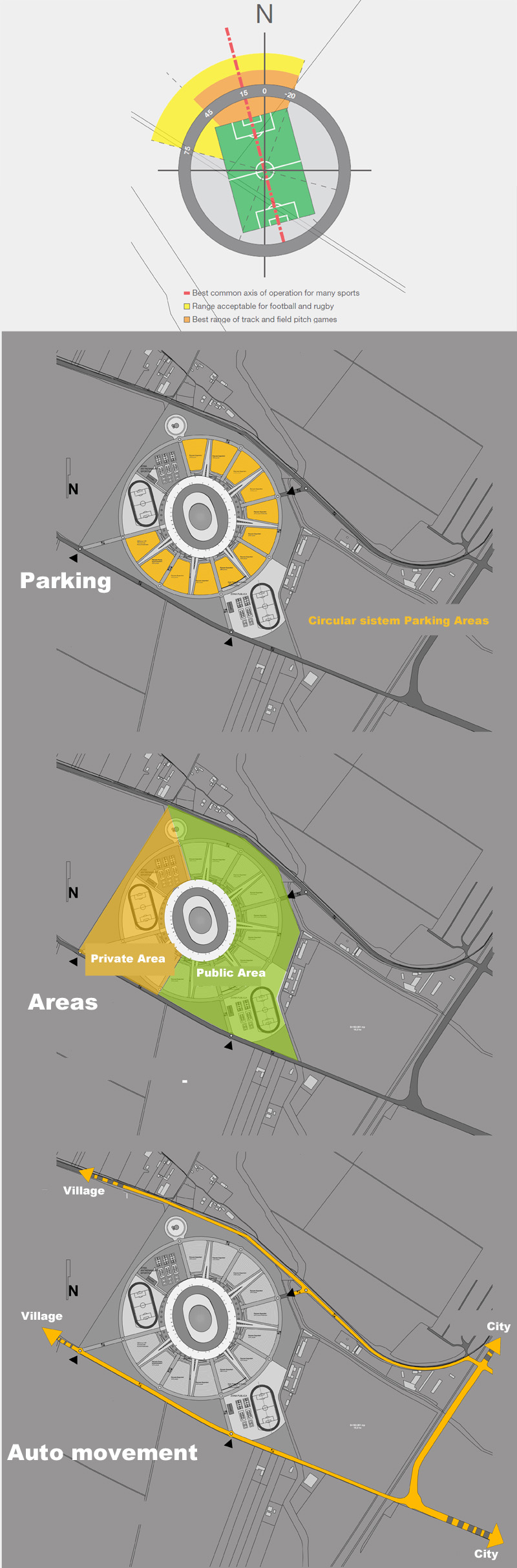 medium resolution of site plan diagram stadium concept