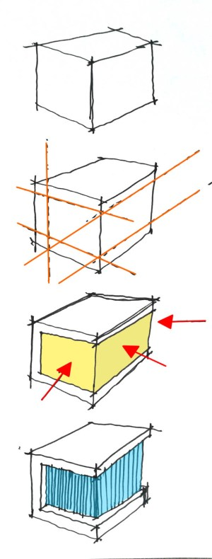 Cube House, Architectural Diagram Sketch   ARCHstudent