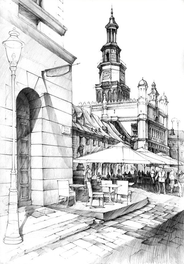 Historical Buildings Pencil Drawing Archstudent