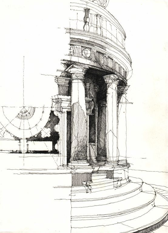 Architectural Sketches #freehand #sketches #art Black And