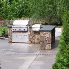Red Stone Outdoor Kitchen Home Depot Island Kitchens  This Aint My Dads Backyard Grill